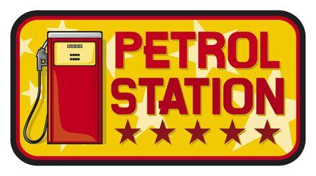 stacja benzynowa Ilustracje wektorowe