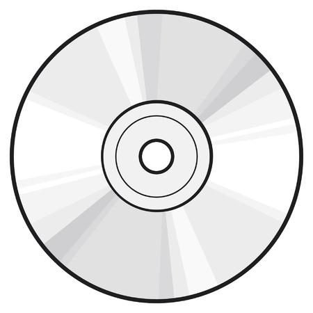 CD or DVD disc Stock Vector - 15227315