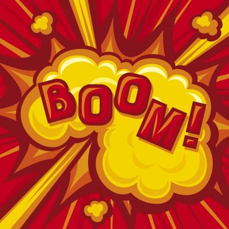 Boom - Explosion Comic Book Explosion Achtergrond Vector Illustratie