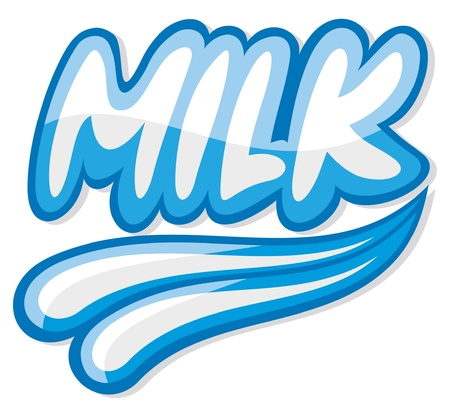 milk design  milk label  Stock Vector - 15501473