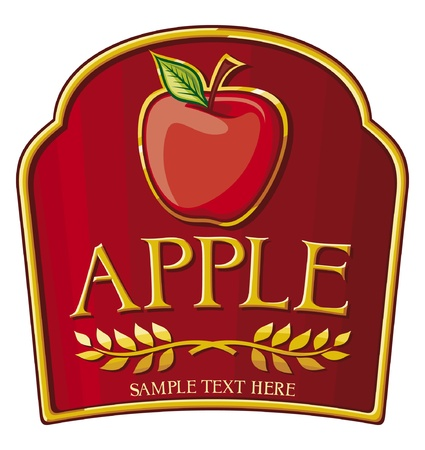 apple label Stock Vector - 15238770