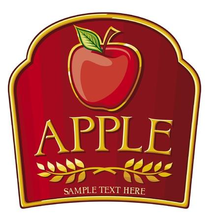marmalade: apple label Illustration