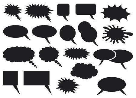dialog balloon: comic speech bubbles