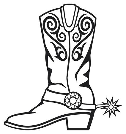 cowboy boot Stock Vector - 15236122