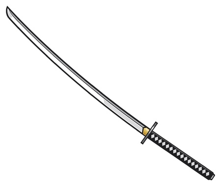 katana: katana - japanse zwaard Samurai zwaard Stock Illustratie