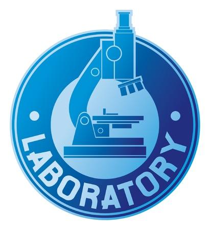 medical study: laboratorio etichetta simbolo di laboratorio Vettoriali