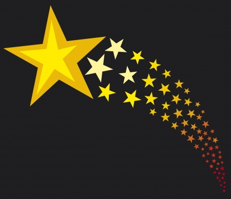 shooting stars  flying stars  Vector