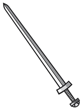 viking sword Vector