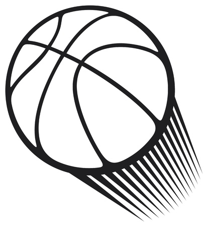 basket: pallacanestro pallone Vettoriali