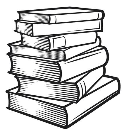 libros: Pila de libros libros apilados Vectores