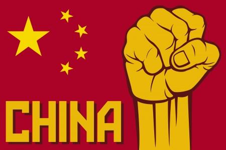 ethnical: china afist  flag of china