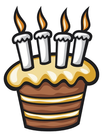 birthday cake with candles  cake with candles for birthday  Stock Vector - 15266889