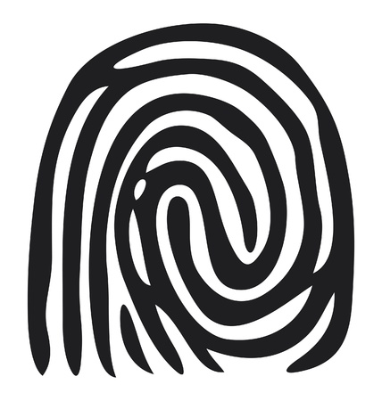 finger print (vector fingerprint) Vector