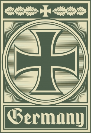 Germany poster  iron cross  Vector