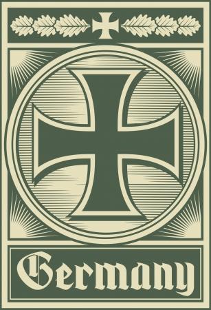 iron cross emblem: Germany poster  iron cross