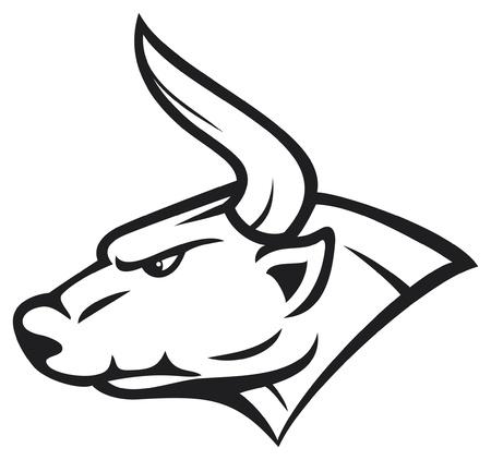 taurus sign: bull head  white bull