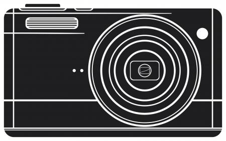 reflexe: Appareil photo num�rique compact appareil photo num�rique, appareil photo professionnel Illustration
