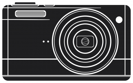 Compact digital camera  digital photo camera, professional camera  Vector