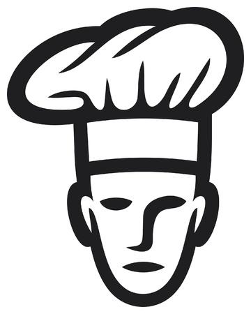 gorro cocinero: cocinero jefe de cocina rostro s�mbolo, jefe de cocina, chef icono