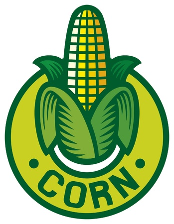 corn label  corn symbol, corn sign, corn badge Stock Vector - 15528351