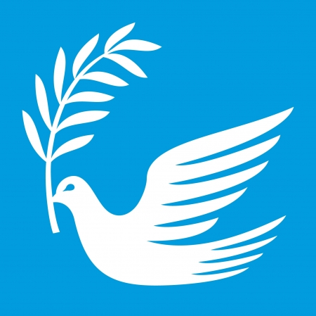 heaven and earth: dove of peace  peace dove, symbol of peace  Illustration