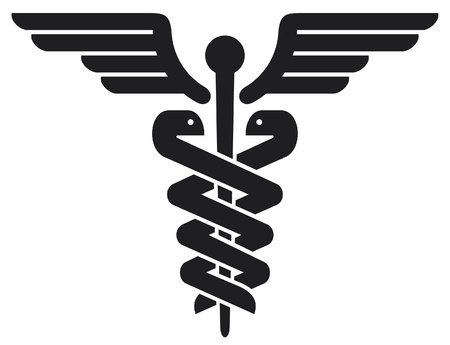 caduceo: caduceus m�dica s�mbolo emblema de farmacia o medicina, se�al m�dico, s�mbolo de la farmacia, farmacia s�mbolo serpiente