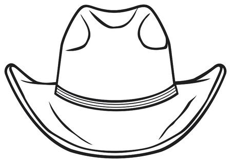 cowboy hat Vektorové ilustrace