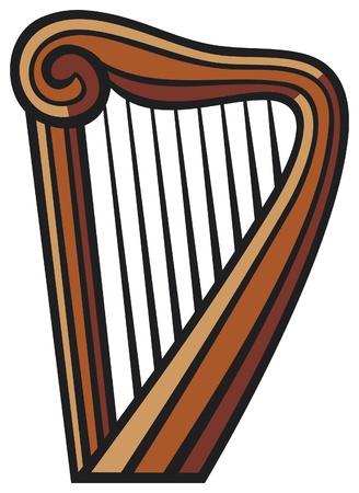 dublin: harp Illustration