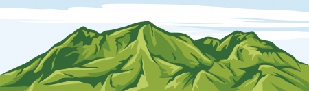 illustration of mountain landscape Vector