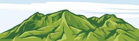 range: illustration of mountain landscape Illustration