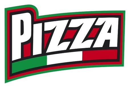 pizza slice: pizza label design  pizzeria label