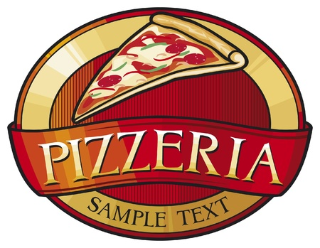 pizzeria label design Vector
