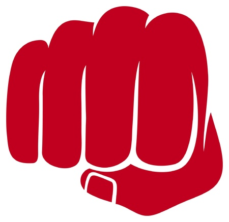 protest signs: fist