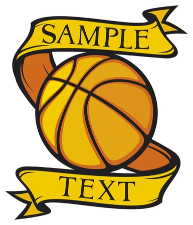 hoops: basketball club emblem (design, symbol, sign) Illustration
