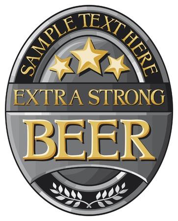 and draft beer: beer label design Illustration