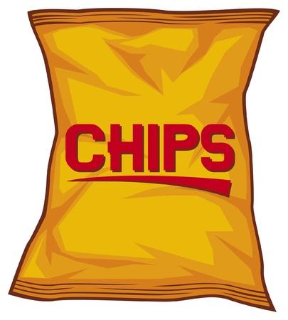 картофель: мешок чипсов Иллюстрация