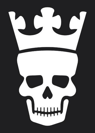 skull: cr�ne et la couronne (cr�ne avec la couronne) Illustration