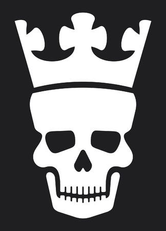 skull and crown: skull and crown (skull with crown) Illustration
