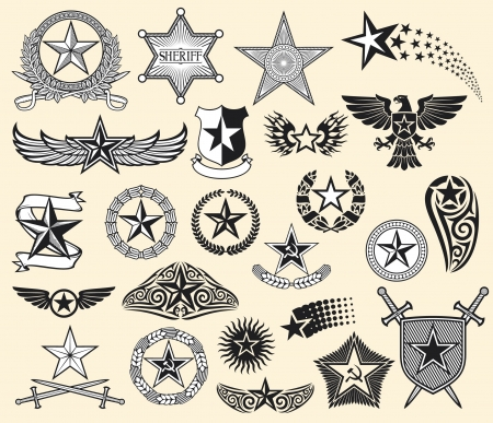 set of vector stars (star collection)