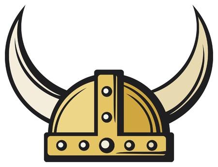 vikingo: Casco de Vikingo Vectores