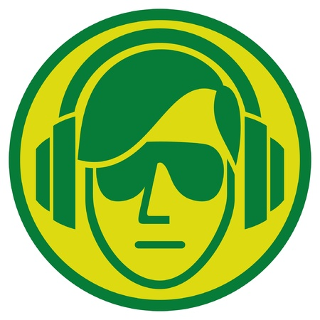 headphones: dj sign  music sign