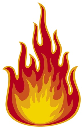fire  flame Stock Vector - 15464105