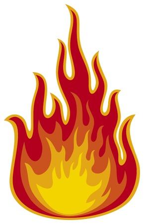 arder: flama de fuego Vectores