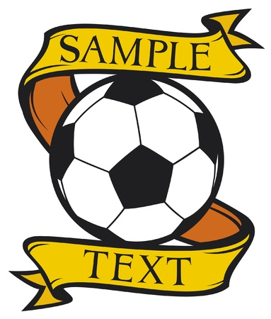 world  hexagon: football club  soccer  symbol, emblem, design Illustration