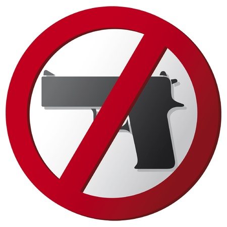 no gun sign Stock Vector - 15464118