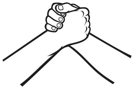 handdruk Vector Illustratie