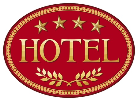 hotel icons: hotel label design