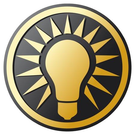 ideas brillantes: Icono de la bombilla de luz bombilla bot�n