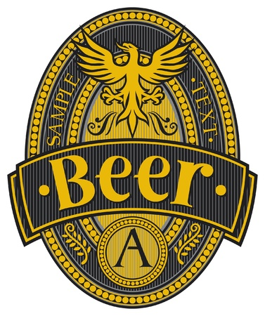 beer label design Stock Vector - 15464151