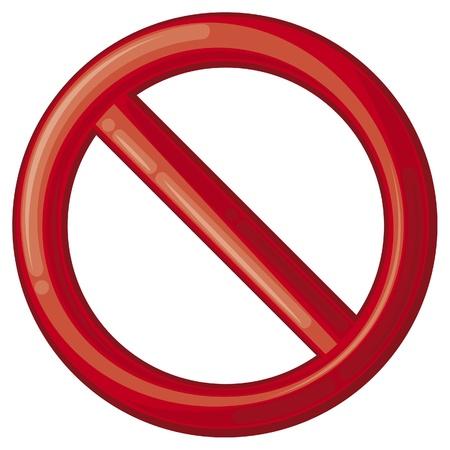 panneaux danger: pas autoris�s panneau d'interdiction signe, aucun signe, signe d'interdiction, interdit cercle Illustration